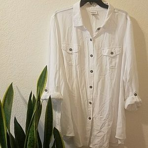Avenue tunic button up 22/24